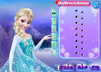 Картинка к игре Холодное сердце, макияж Эльзы