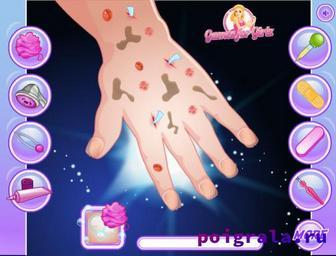 Картинка к игре Маникюр малышки Эльзы для девочек
