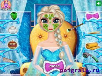 Картинка к игре Настоящий макияж Эльзы для девочек