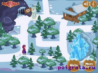 Картинка к игре Холодное сердце, приключение Анны