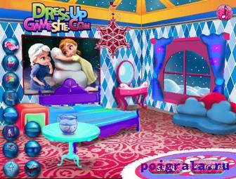 Картинка к игре Холодное сердце, дизайн комнаты