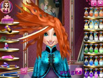 Картинка к игре Холодное сердце прически Анны