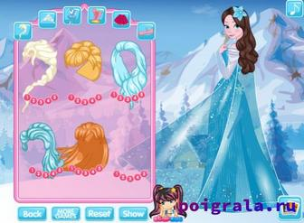 Игра Холодное сердце, одевалака Анны и Эльзы