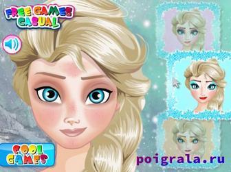 Картинка к игре Школа макияжа Эльзы для девочек