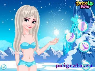 Картинка к игре Холодное сердце, прически Эльзы