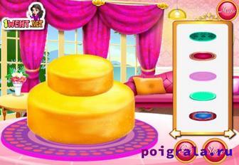 Картинка к игре Холодное сердце, свадебный торт Анны