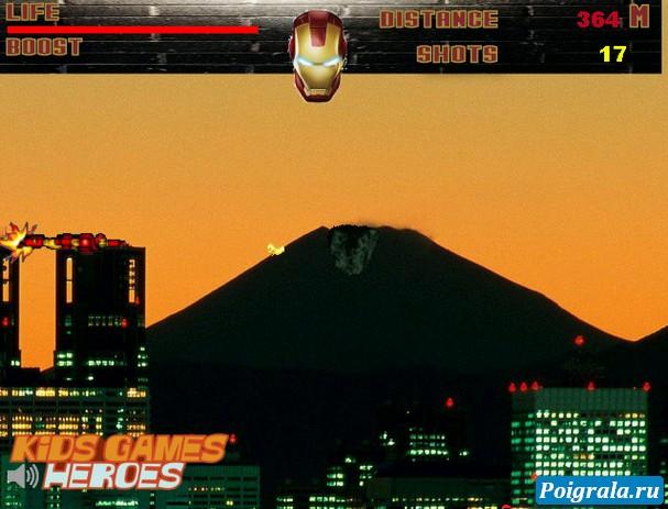 Картинка к игре Айронмен, городской полет