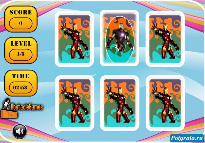 Картинка к игре Железный человек, открой картинки