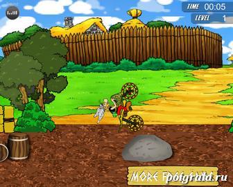 Картинка к игре Астерикс на мотоцикле