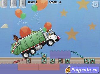 Картинка к игре История игрушек, побег на грузовике