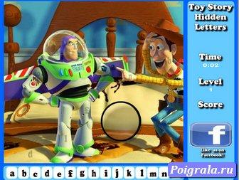 Картинка к игре История игрушек, найди буквы
