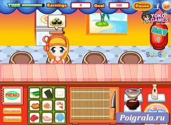 Картинка к игре Магазин суши Джессики