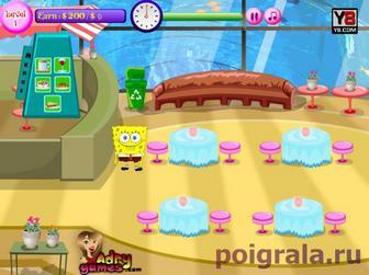Картинка к игре Губка Боб подводный ресторан