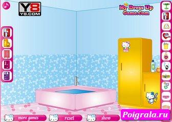 Картинка к игре Хелло Китти ванная комната