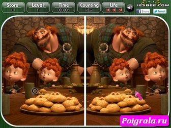 Картинка к игре Храбрая сердцем найди отличия