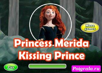 Игра Принцесса Мерида поцелуй с принцем