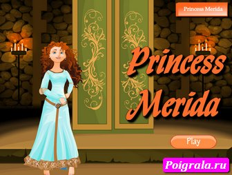 Одень принцессу Мериду картинка 1