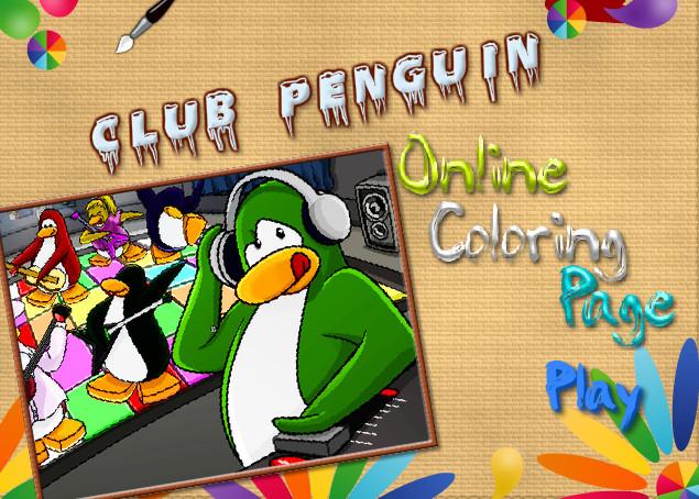 Игра Раскраска клуб пингвинов