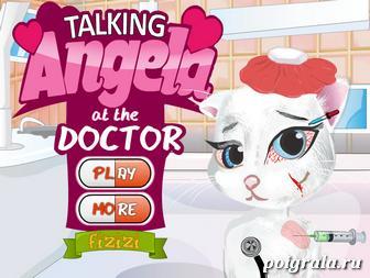 Игра Говорящая Анжела у доктора