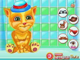 Картинка к игре Одевалка кота Рыжика