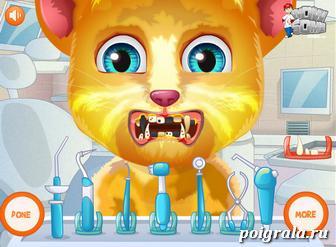Картинка к игре Кот Рыжик лечит зубы