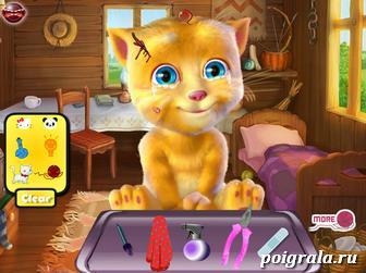 Картинка к игре Кот Рыжик у доктора