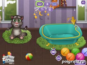 Картинка к игре Малыш Том принимает ванну