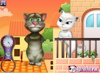 Картинка к игре Том и Анжела целуются