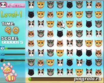 Картинка к игре Три в ряд с котами
