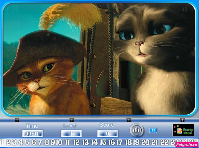Картинка к игре Кот в сапогах, найди предметы