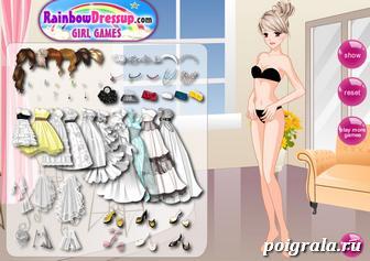Картинка к игре Свадебное платье для девушки