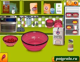Картинка к игре Готовим с Сарой вишневые кексы