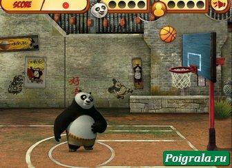 Картинка к игре Кунг фу панда, баскетбол