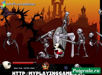 Картинка к игре Кунг фу панда, битва со скелетами
