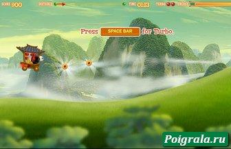 Картинка к игре Кунг фу панда гонки на тележке