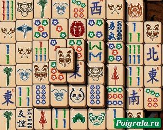 Картинка к игре Кунг Фу панда, маджонг