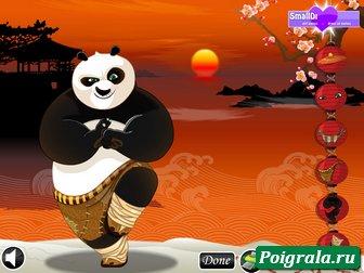 Игра Кунг фу панда одевалка