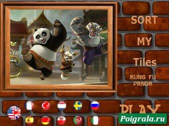 Игра Пазл с кунг-фу пандой