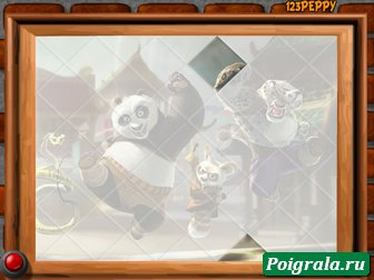 Картинка к игре Пазл с кунг-фу пандой