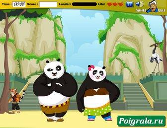 Картинка к игре Поцелуй кунг-фу панды