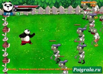Картинка к игре Кунг-Фу панда против зомби