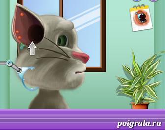 Картинка к игре Лечение ушей кота Тома