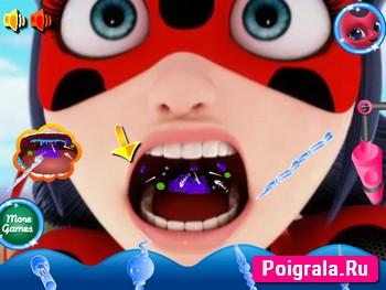 Картинка к игре Леди Баг лечит горло
