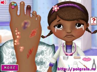 Картинка к игре Лечим ногу Дотти Плюшевой