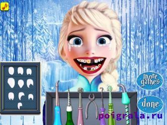 Картинка к игре Холодное сердце, лечим зубы Эльзе