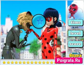 Картинка к игре Леди Баг, найди звезды