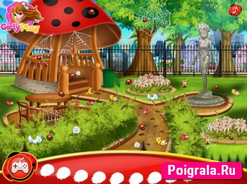 Картинка к игре Леди Баг, уборка в саду