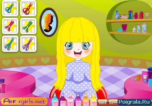 Картинка к игре Прическа для маленькой девочки