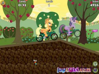 Картинка к игре Май литл пони гонки на велосипеде
