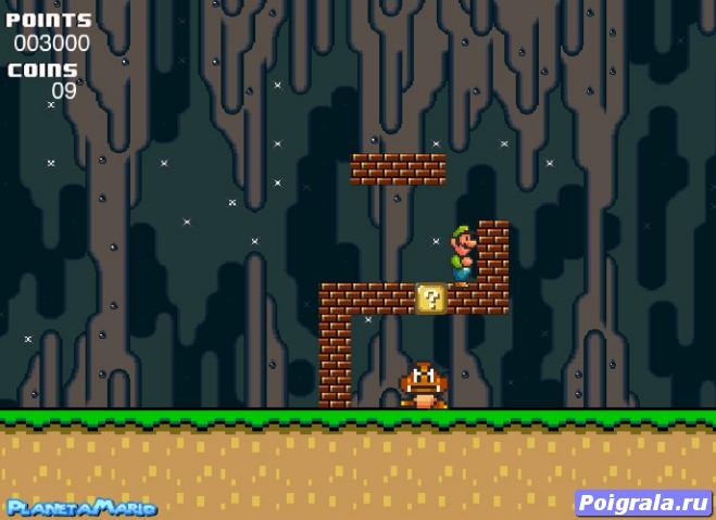 Картинка к игре Луиджи в пещере